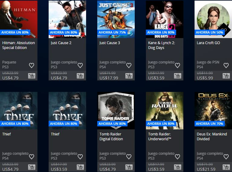 PlayStation Store Paraguay - Promoción Square Enix & Focus home publisher