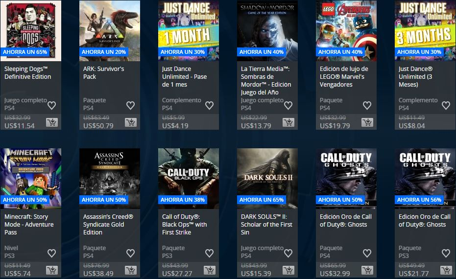PLAYSTATION STORE Chile – Ofertas Semanales Extended Play Sale