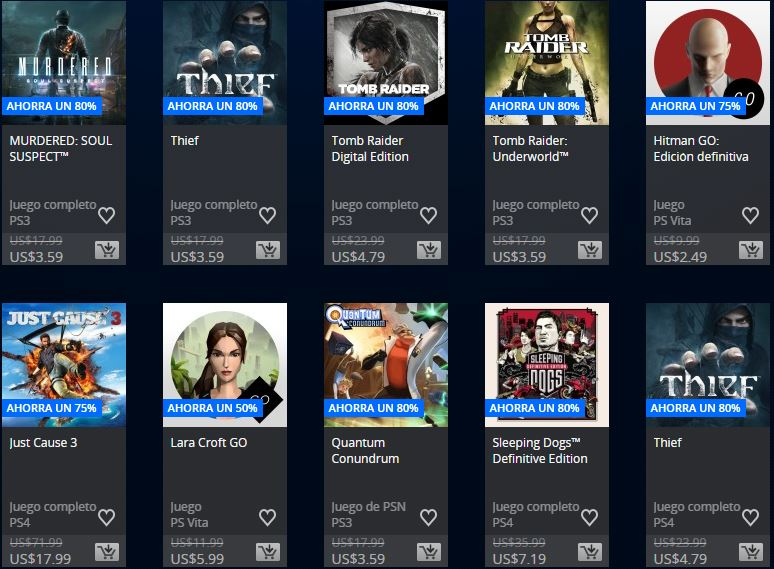 PlayStation Store Uruguay - Promoción Square Enix & Focus home publisher