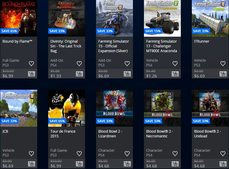 PlayStation Store USA – Focus home publisher