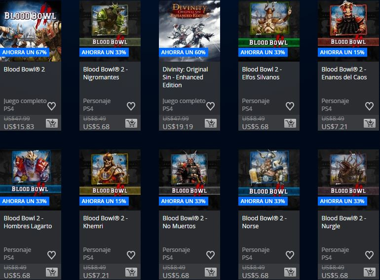 PlayStation Store Ofertas semanales - Promoción Square Enix & Focus home publisher