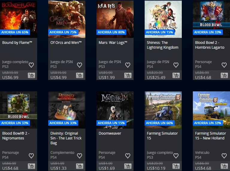 PlayStation Store Mexico - Promoción Square Enix & Focus home publisher
