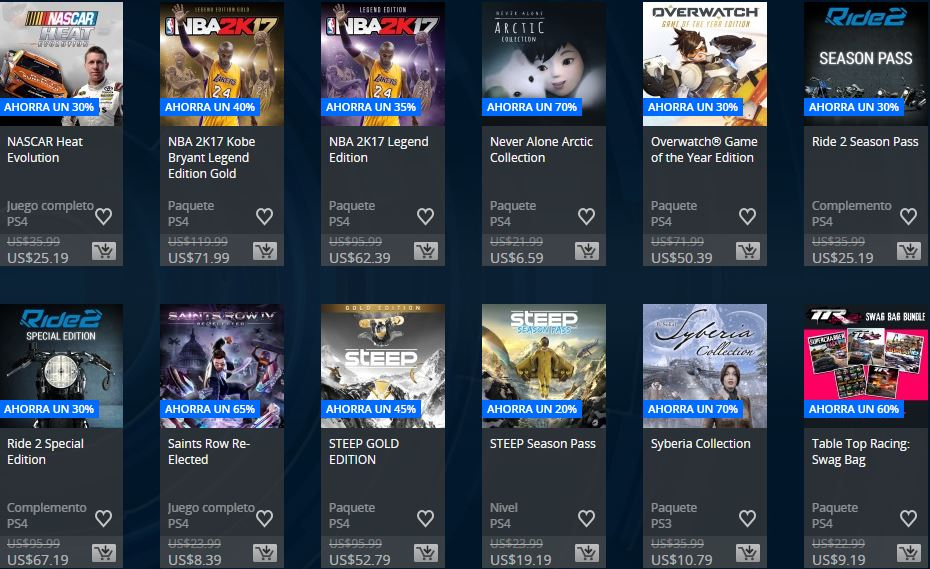 PLAYSTATION STORE Bolivia – Ofertas semanales Extended Play Sale