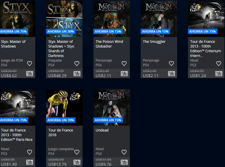 PlayStation Store Chile - Promoción Square Enix & Focus home publisher