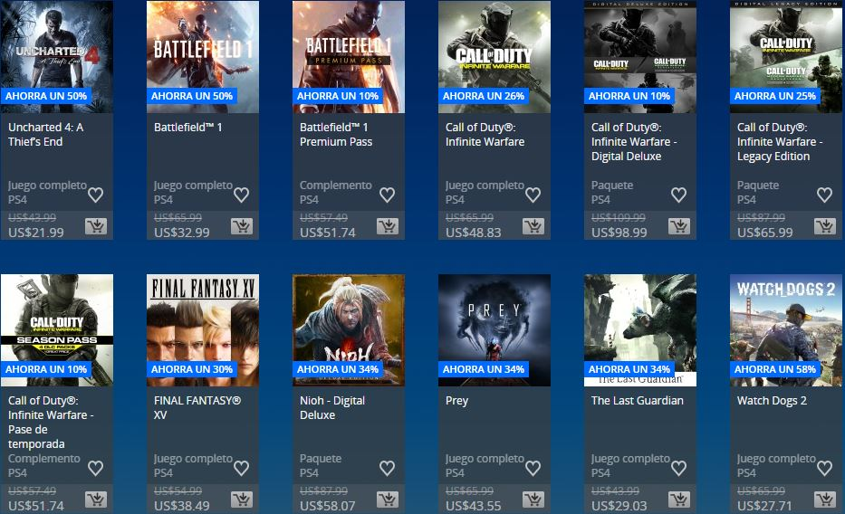 PlayStation Store - Días de Play Store Chile