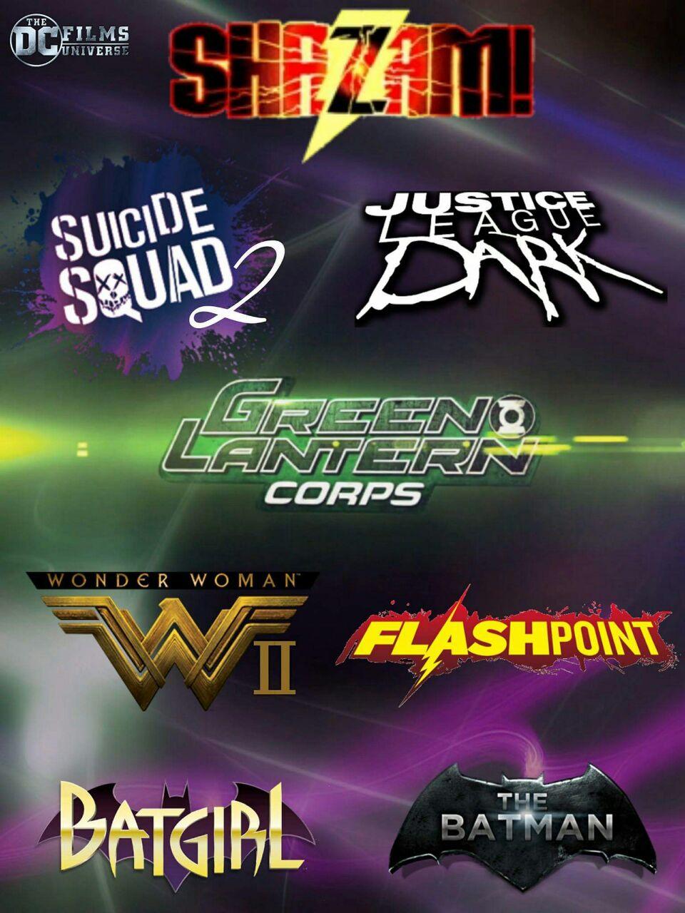 Todos los logos presentados de las futuras películas del DCU, incluida el logo de The Flash con la variacion de Flashpoint