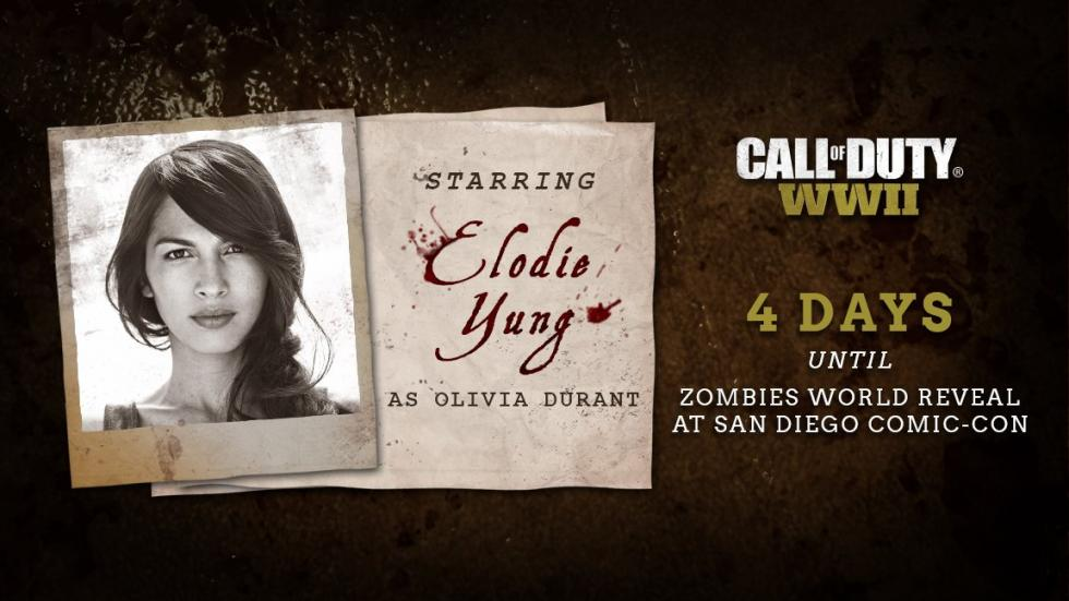 Elodie Young como Olivia Durant en Call of Duty WWII Zombie Mode