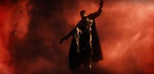 Batman y un cielo de fondo rojo en la pelicula de Justice League, no puede significar algo bueno