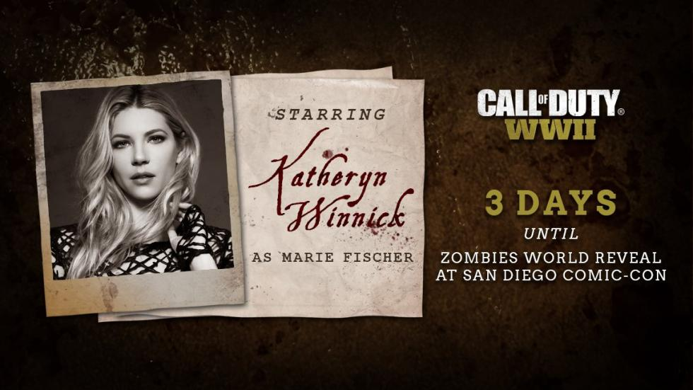 Katheryn Winnick como Marie Fischer en Call of Duty WWII Zombie Mode