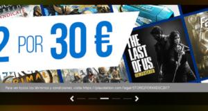 Ofertas PSN Europa - 2 por 30 Euros Sale