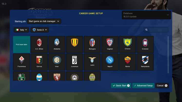 Footbal Manager Touch 2018
