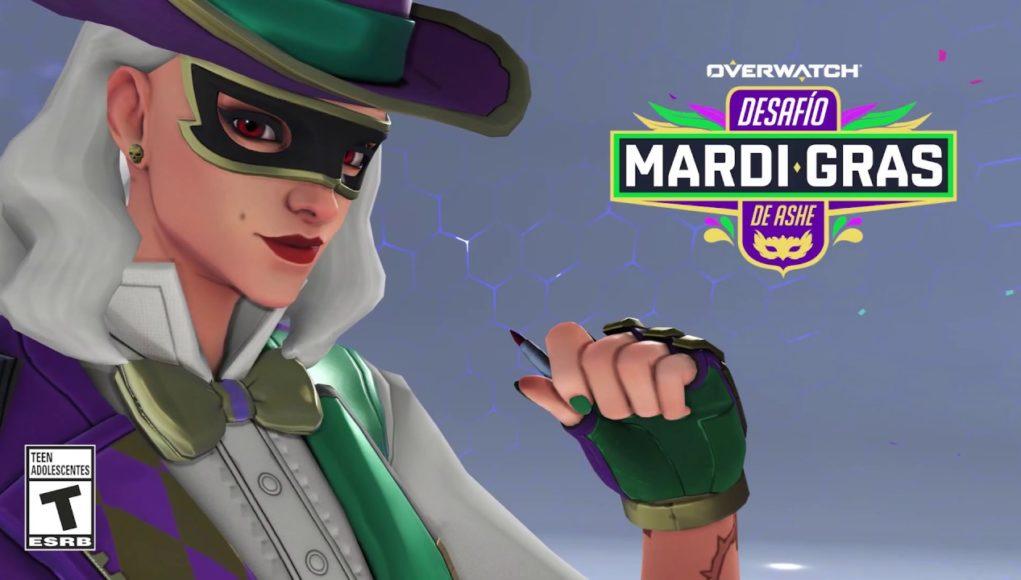 Ya disponible el desafío Mardi Gras de Ashe para Overwatch