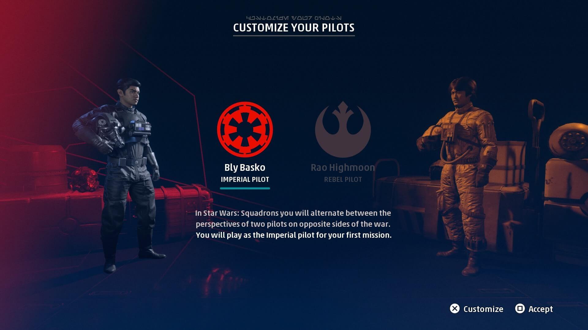 En el juego vamos a ser tanto piloto del imperio como de la nueva republica